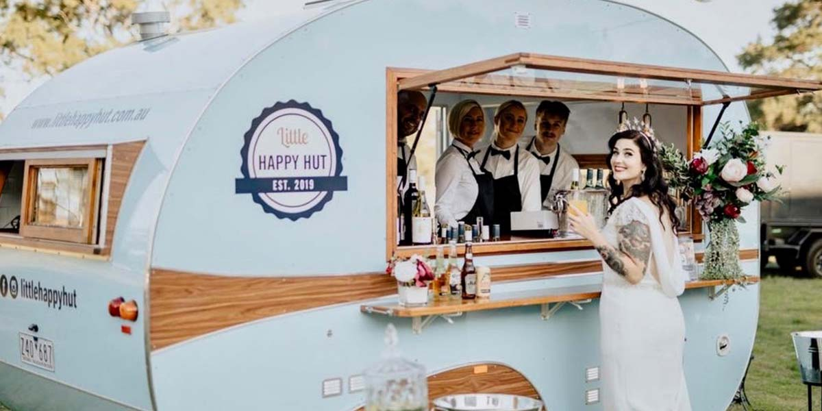 Little Happy Hut Mobile Event Bar Coffee Caravan Wedding Catering Services